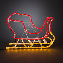 LED Sleigh Rope Silhouette
