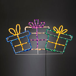LED Present Trio Rope Silhouette