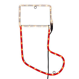 LED Stocking Rope Silhouette