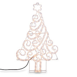 LED Swirly Tree Rope Silhouette