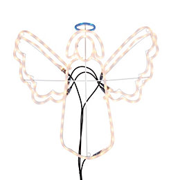 LED Angel with Flashing Wings Rope Silhouette