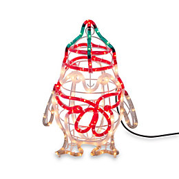 LED 3D Baby Penguin Rope Silhouette