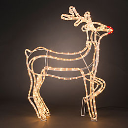 LED 3D Stag Rope Silhouette