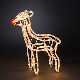 LED 3D Fawn Free Standing Rope Silhouette