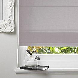 Colours Malle Corded Grey Roman Blind (L)160cm (W)120cm