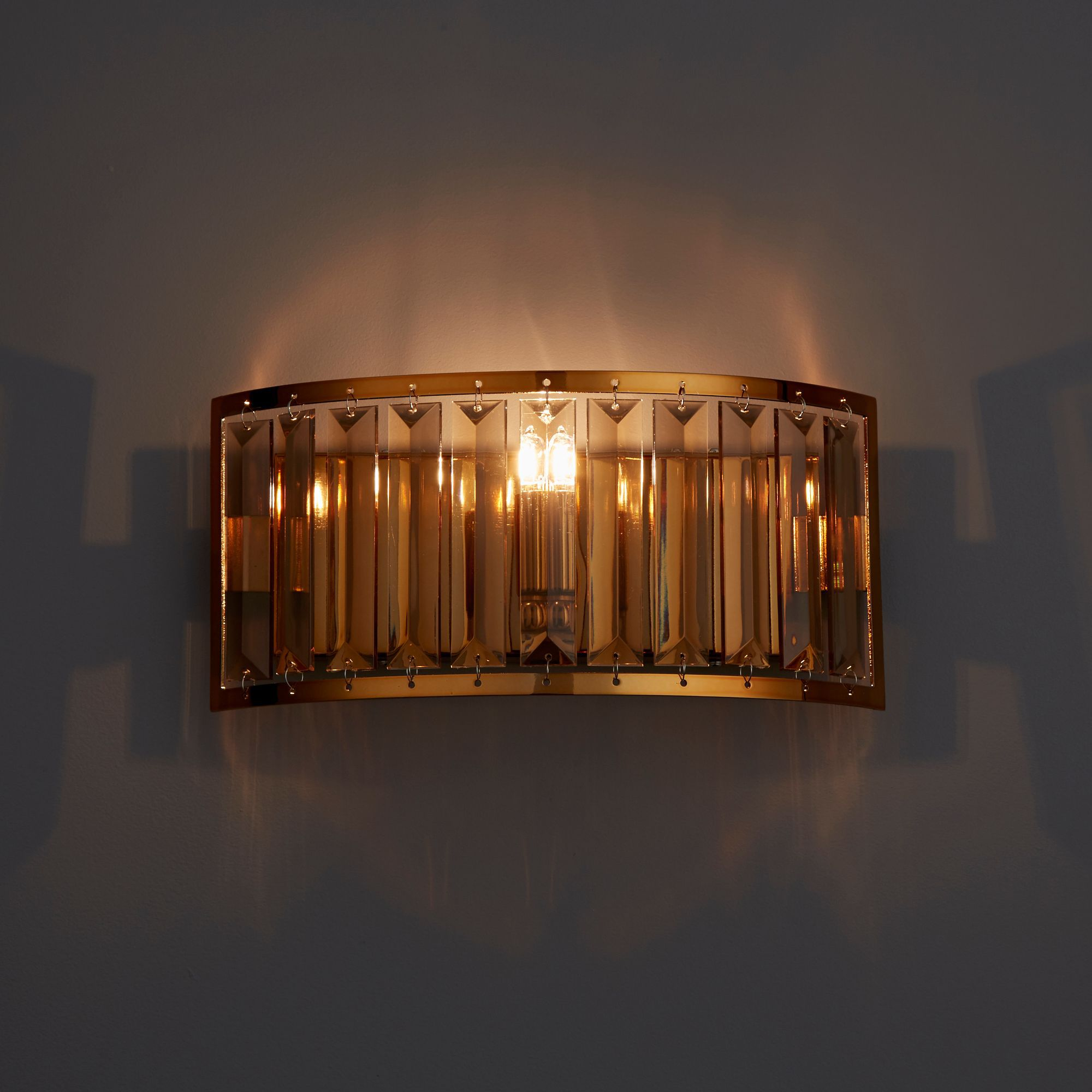 Dione Warm Copper Plate Effect Wall Light Departments DIY at B&Q
