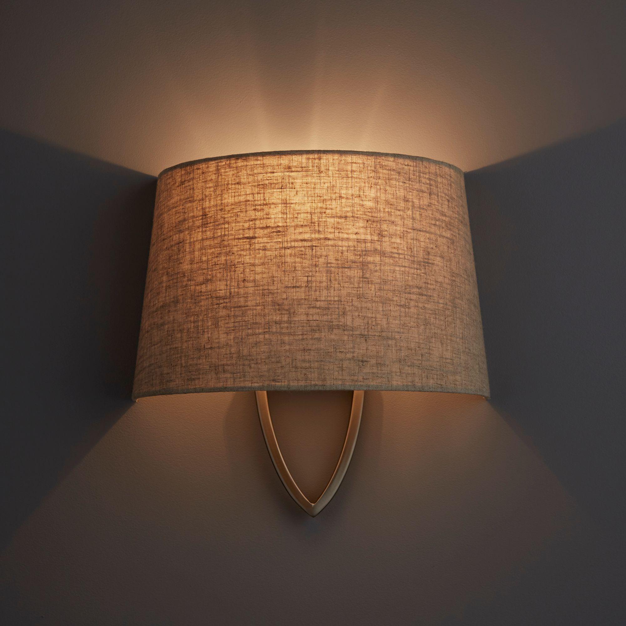 Hampstead Natural Linen Effect Wall Light
