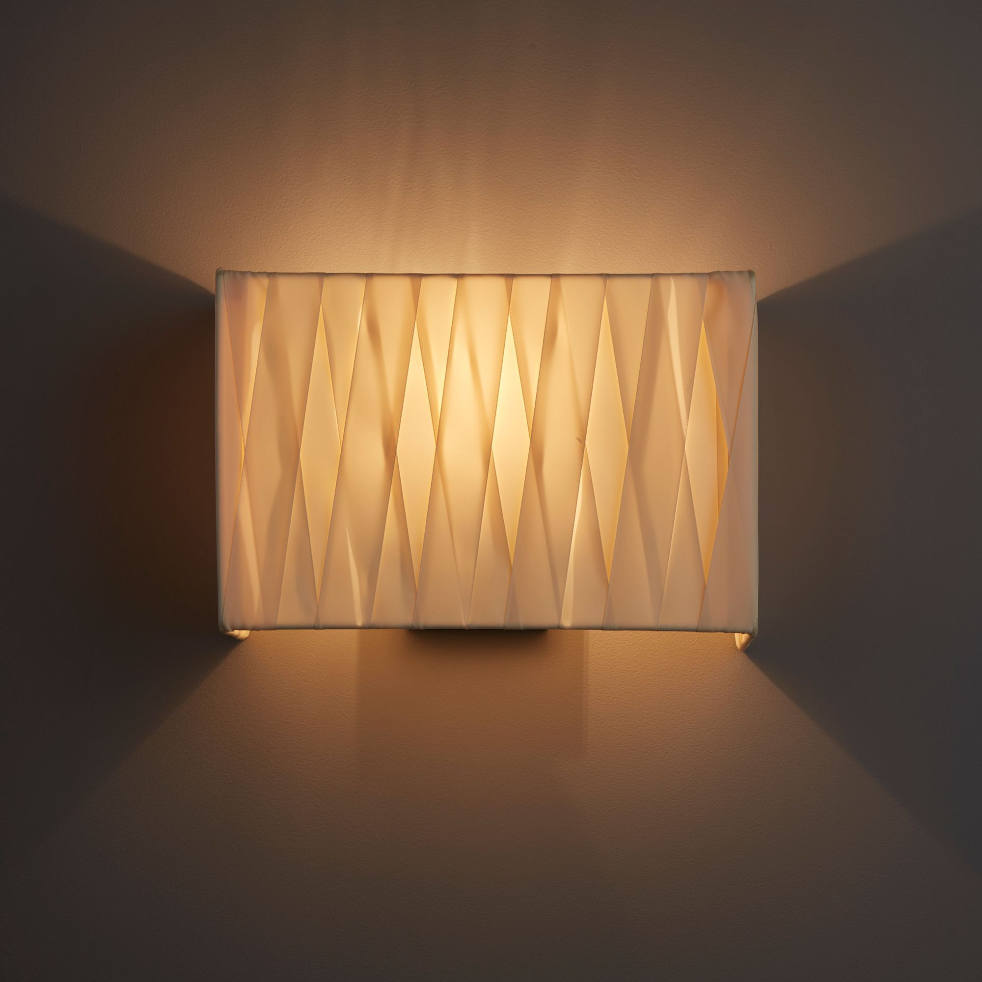 Acasia Ivory Ribbon & Matt Charcoal Paint Wall Light