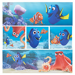 Finding Dory Canvas Print (W)810mm (H)810mm Set of