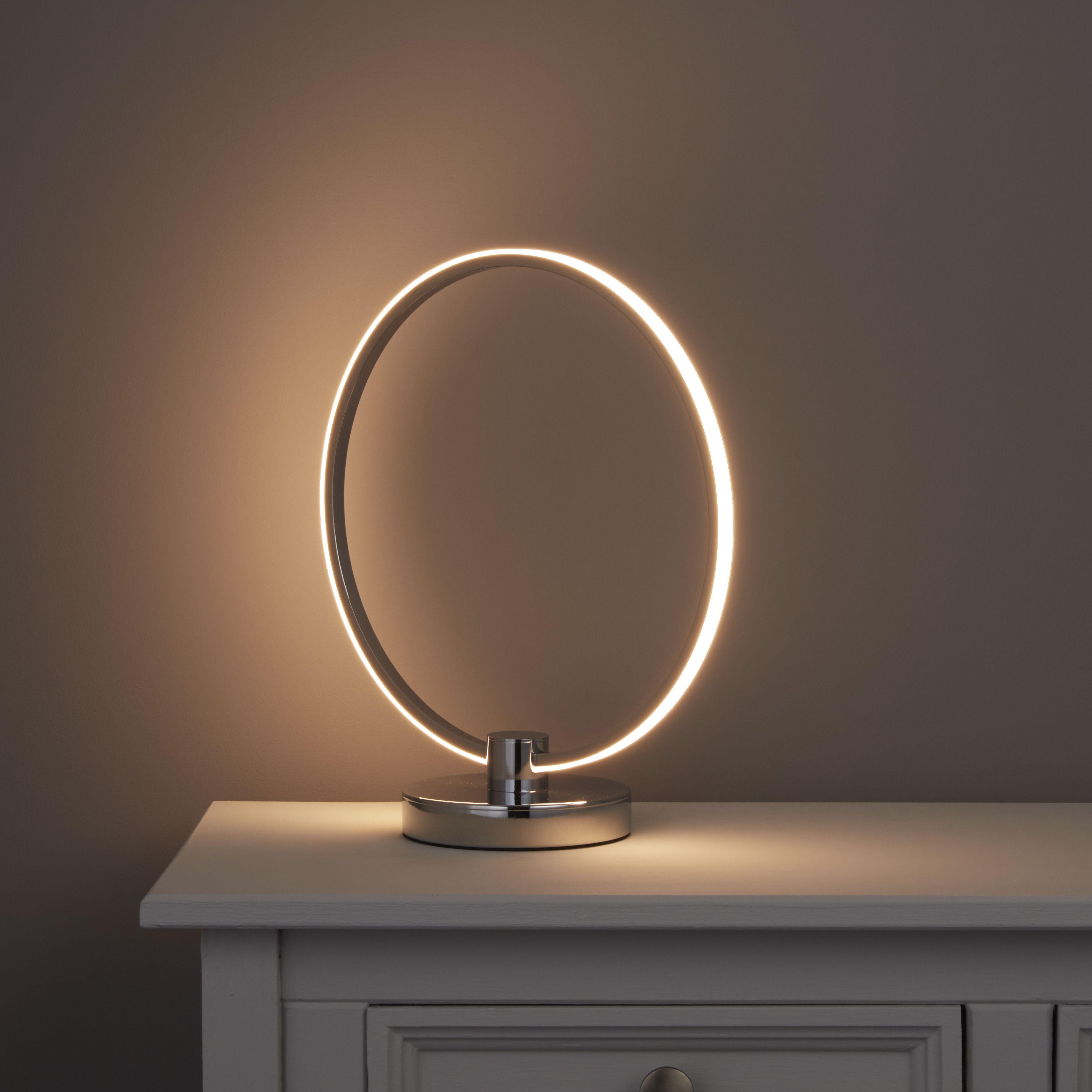 Tani Integrated Led Brush Nickel Effect Table Lamp