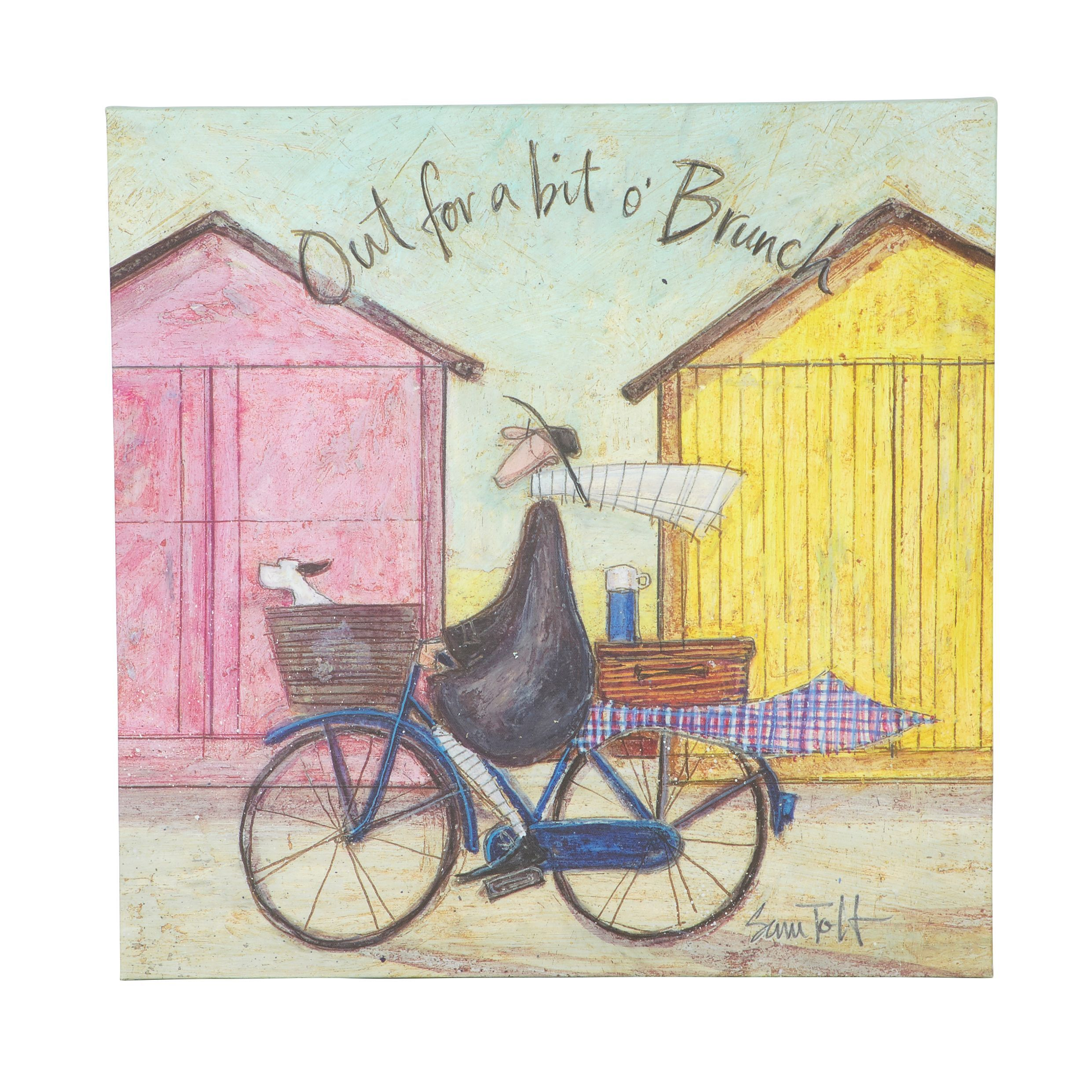 sam toft out for a bit canvas print w400mm h400mm departments diy at bu0026q