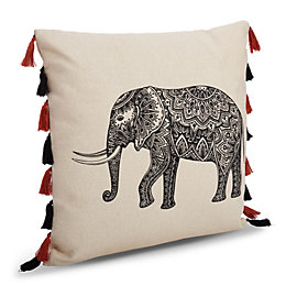 Orabelle Elephant Cream Cushion