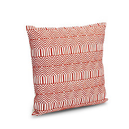 Adira Geometric Embroidered Terracotta Cushion