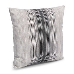 Ashlyn Shaded Stripe Grey Cushion