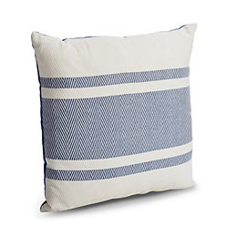 Christyn Herringbone Blue & White Cushion