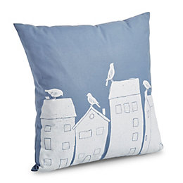 Custodia Printed Blue & White Cushion