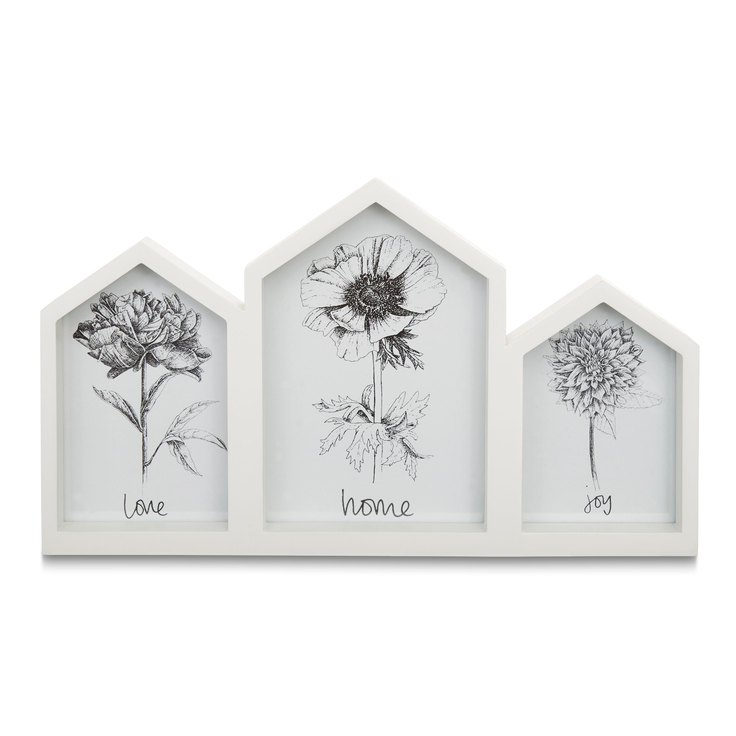 Triple House Photo Frame