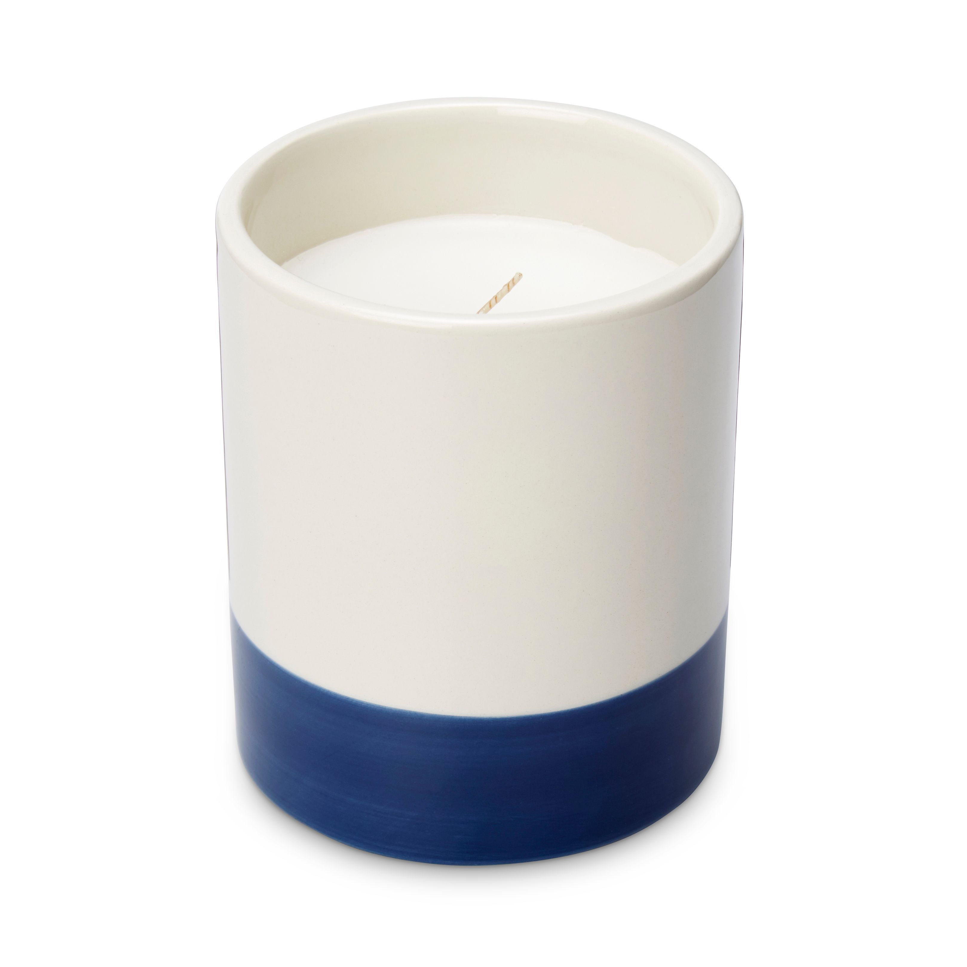 Blue Ceramic Filled Candle