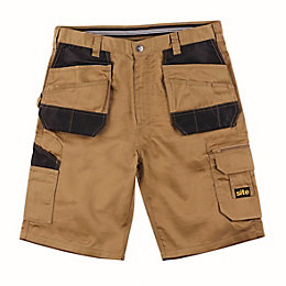 "Site Jackal Brown Multi-Pocket Shorts W36"" L10"""