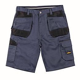 "Site Jackal Grey Multi-Pocket Shorts W36"""