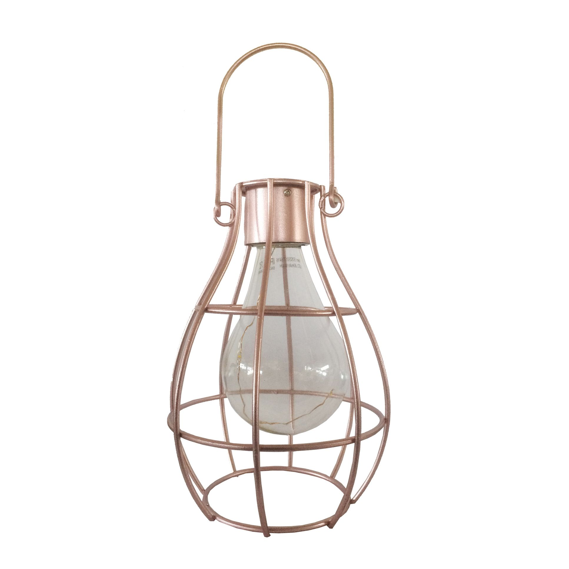 Blooma Ellopos Caged Solar Powered Led Hanging Lantern