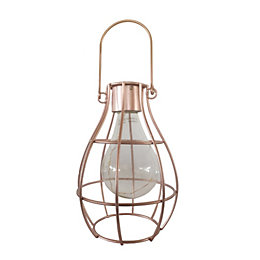 Blooma Ellopos Rose Gold Effect Caged Solar Powered