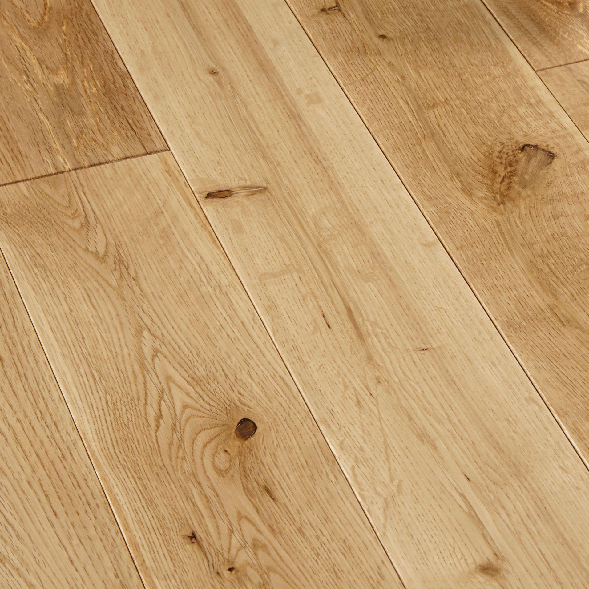 Colours Rondo Natural Solid Wood Flooring Oak Effect 1.296 M²