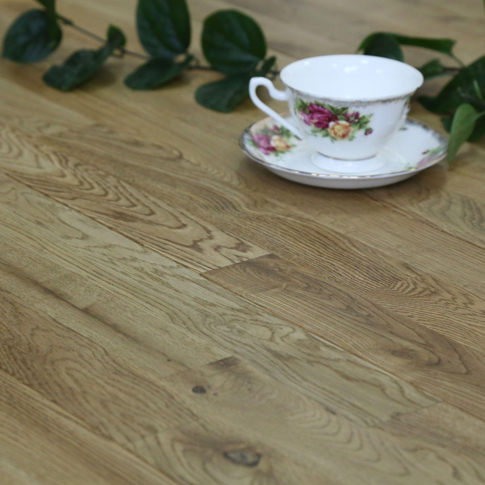 Colours Barcarolle Natural Solid Wood Flooring Oak Effect 1.26 M²