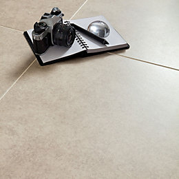 Bianco Cement Inspired Design Porcelain Floor Tile, Pack