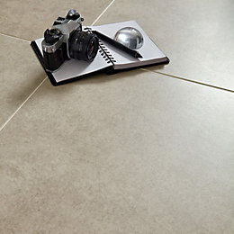 Grey Cement Inspired Design Porcelain Floor Tile, Pack