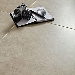 Grey Cement Inspired Design Porcelain Floor Tile, Pack