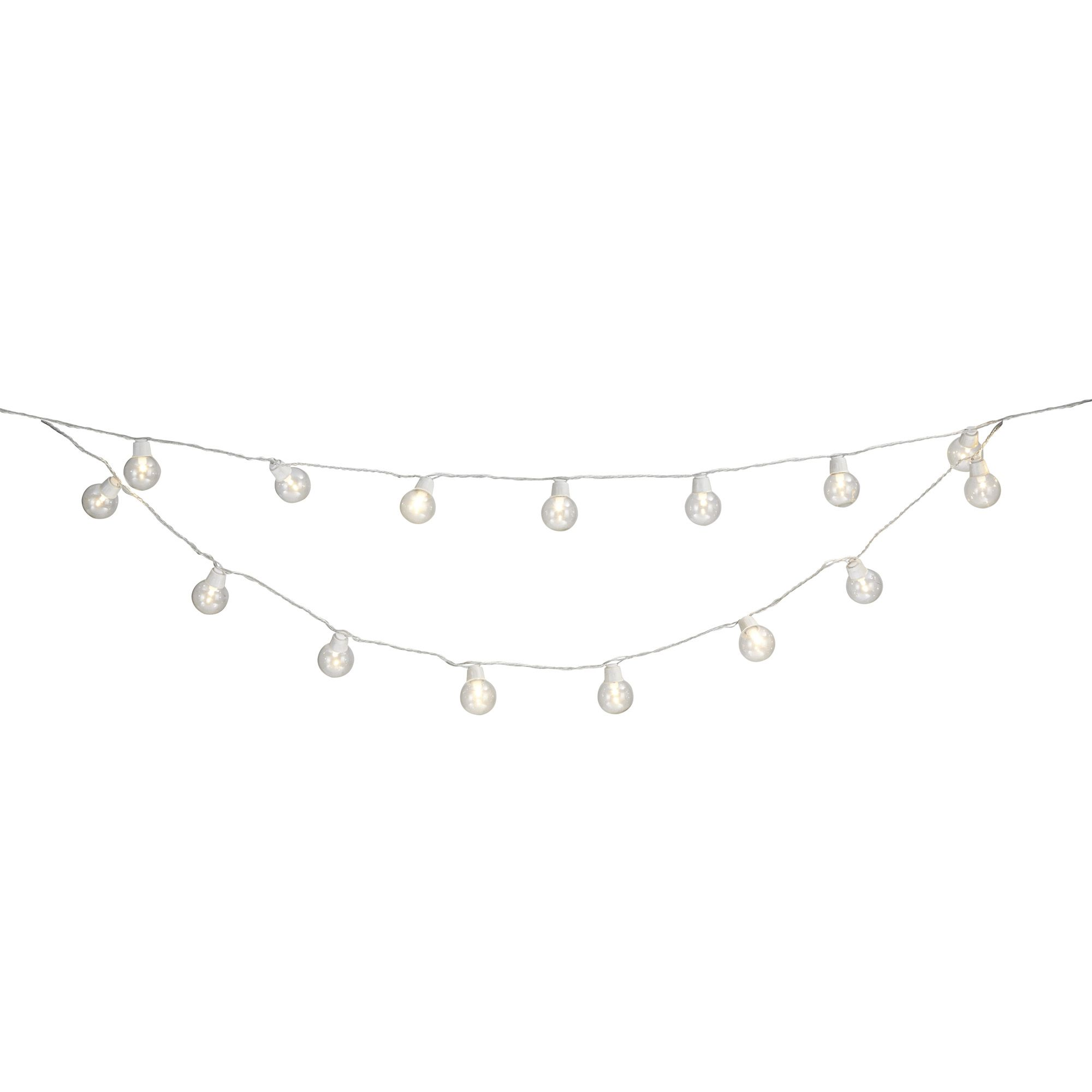 Blooma Auva Mains Powered White 50 Led String Lights