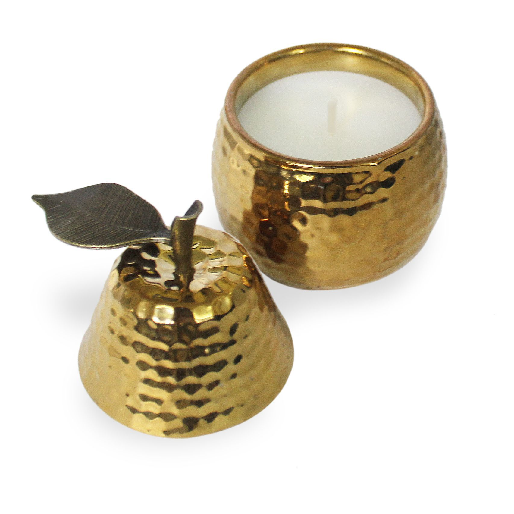 White Pepper Filled Pear Jar Candle
