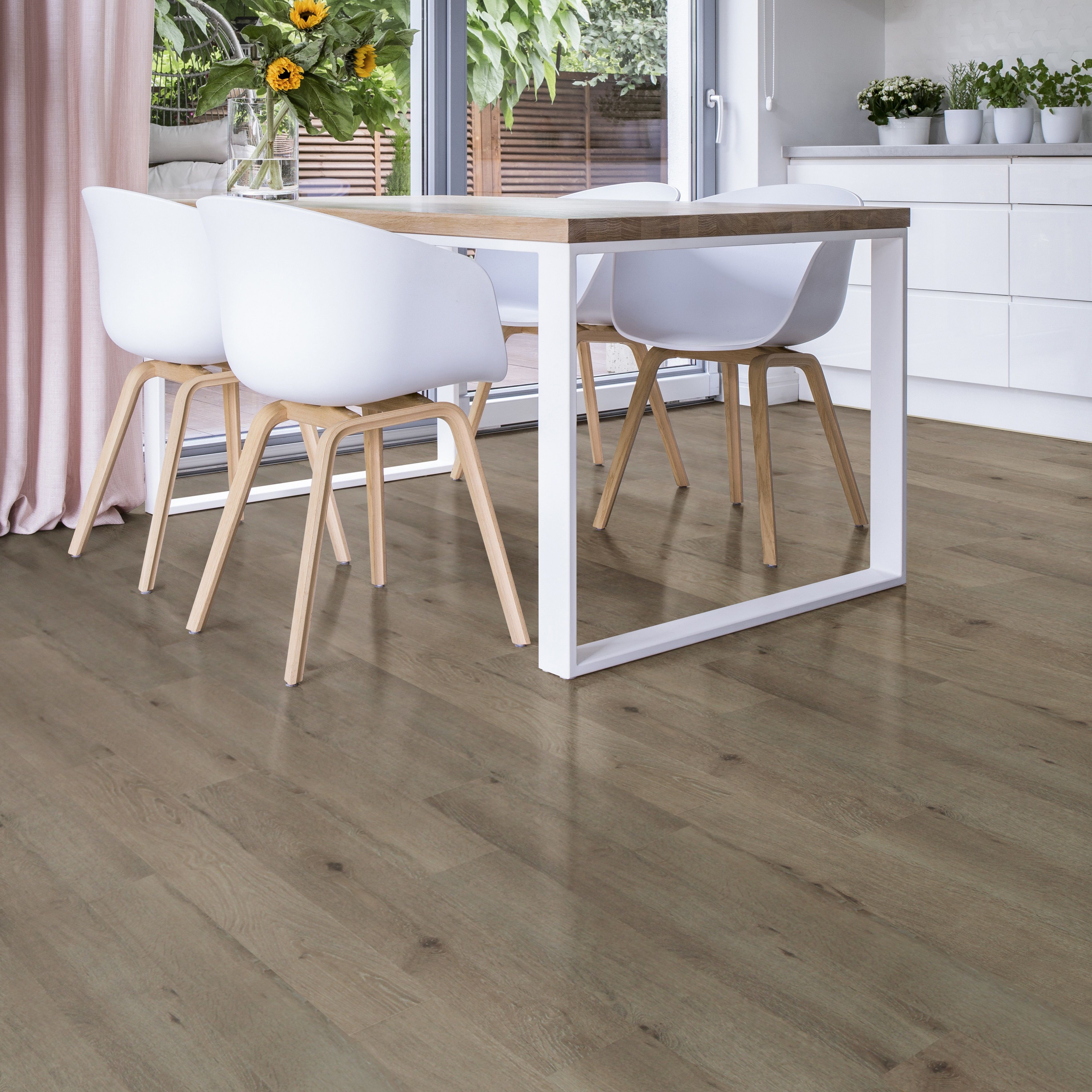 Colours Dolce Grey Laminate flooring 1.19 m² Pack | Departments | DIY at B&Q