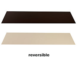 Cocoa & Cream Hearth Panel (W)1334mm (D)362mm (T)3mm