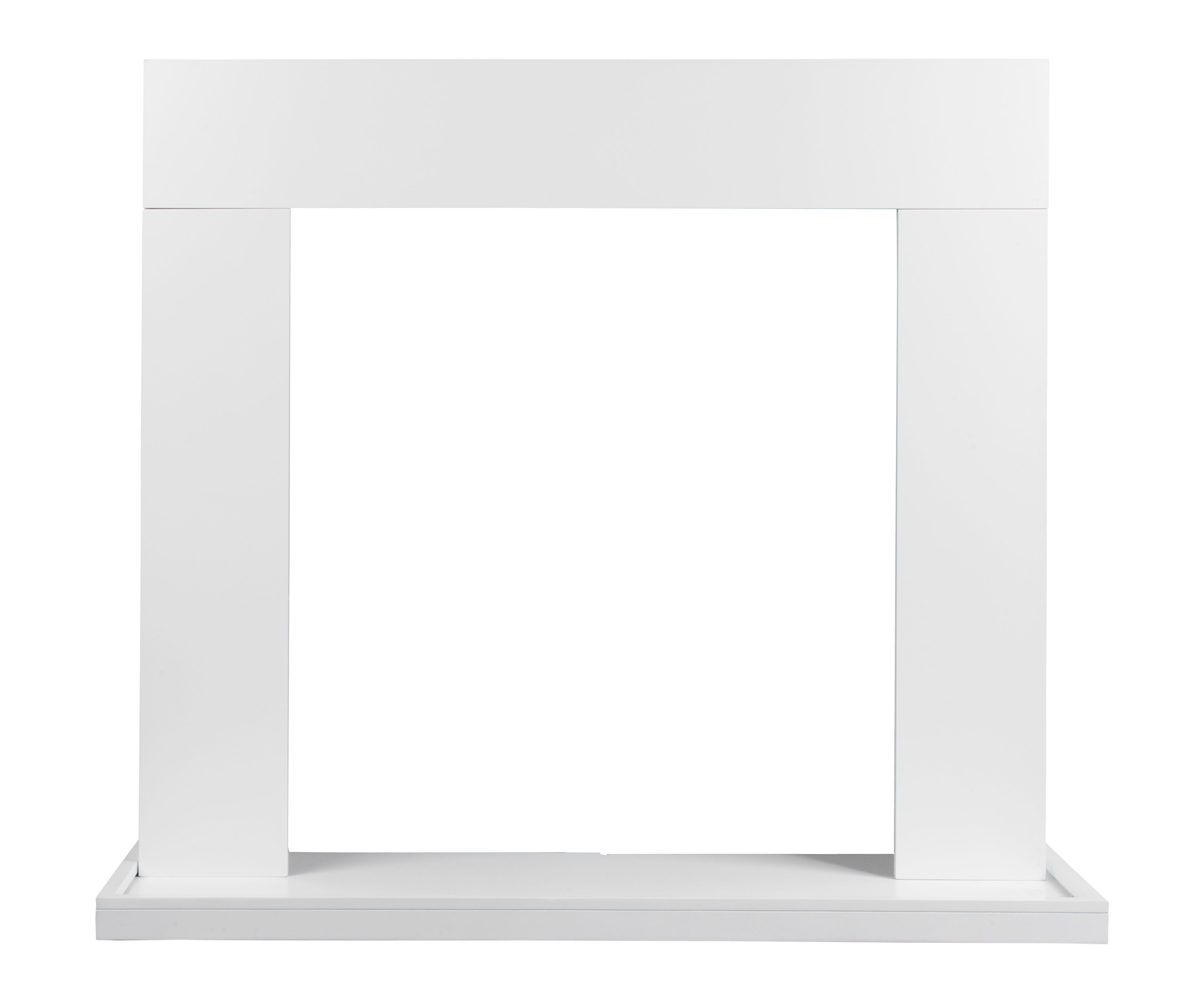 fairford satin white painted mdf fire surround set departments