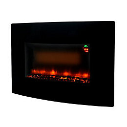 Beldray Fontana Black LED Wall Hung Fire