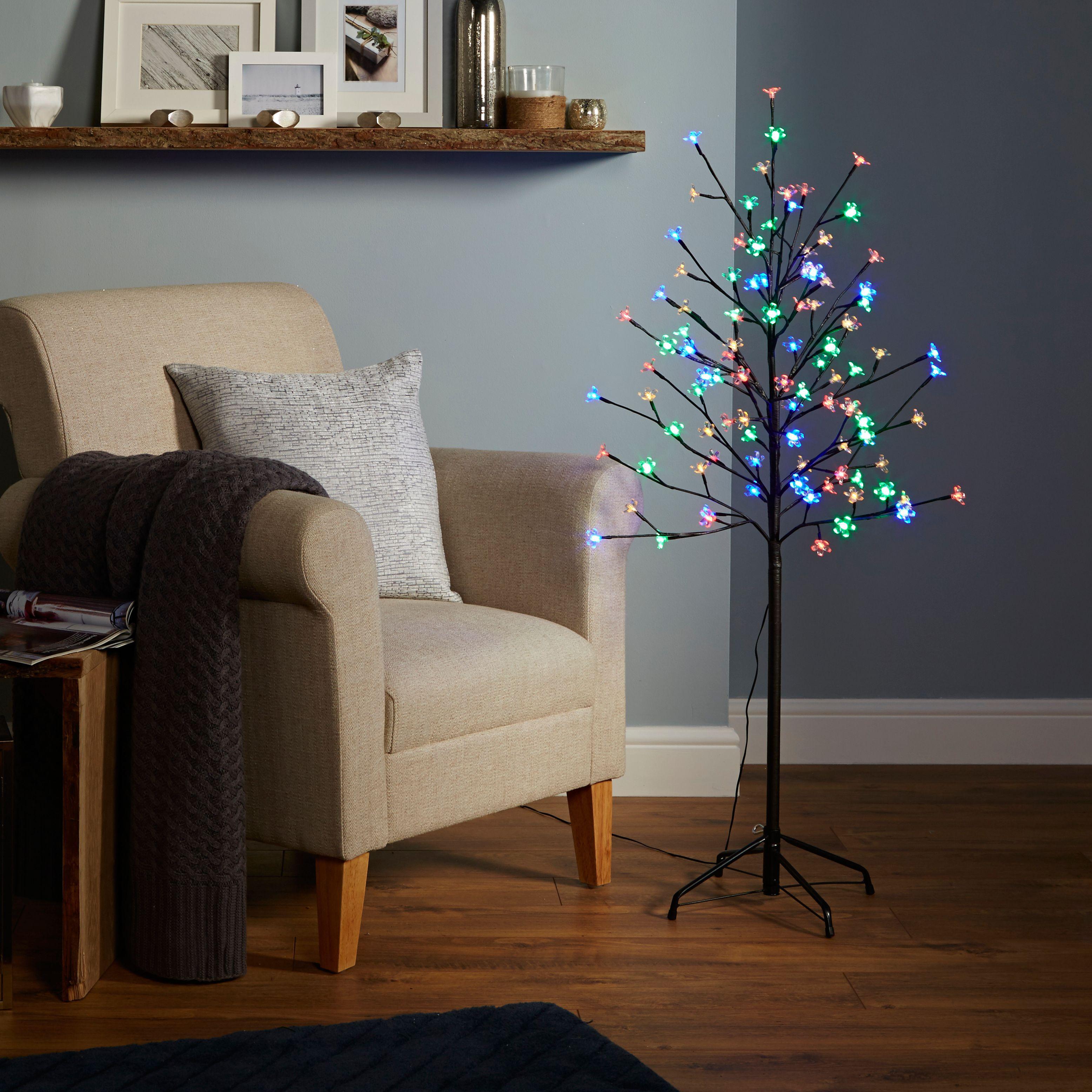 4ft Multicolour Pre-lit Led Christmas Tree
