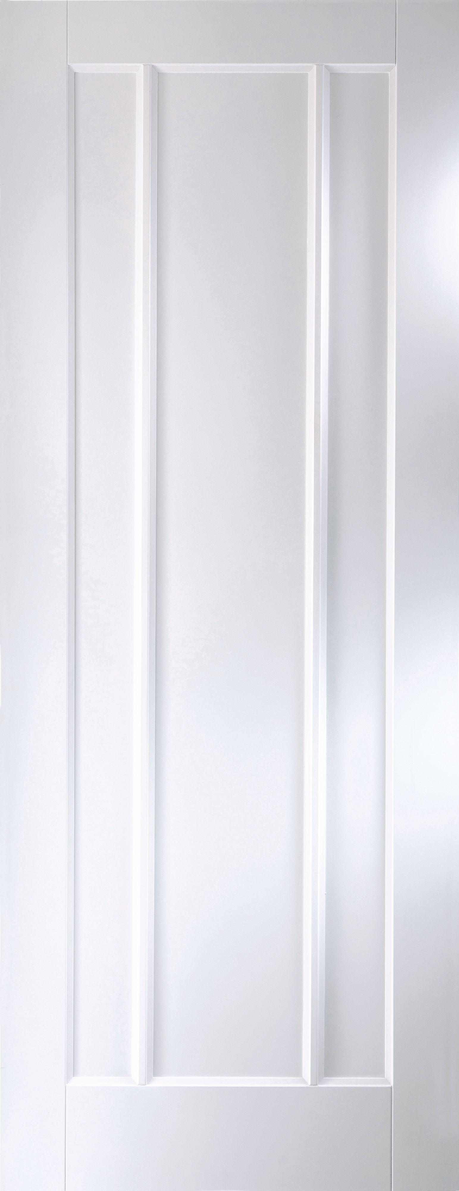 Vertical 3 Panel Primed Smooth Unglazed Internal Standard Door, (h)1981mm (w)686mm
