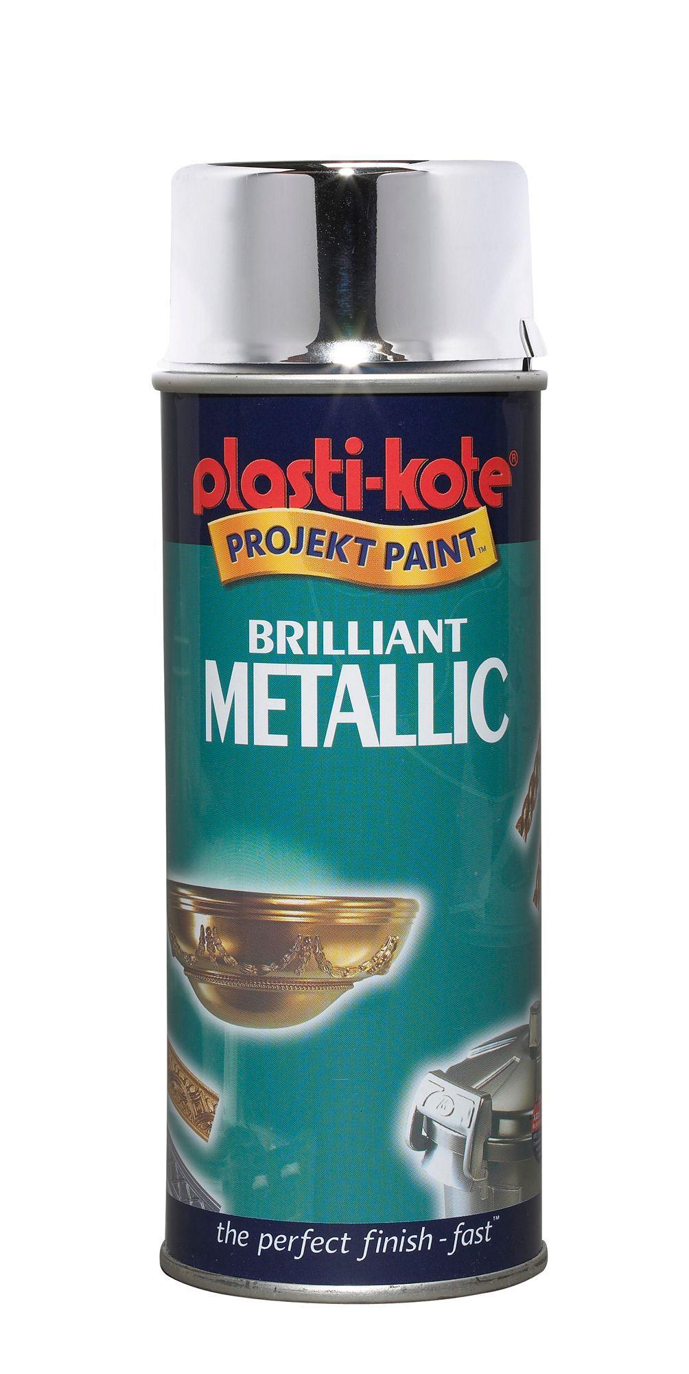 Plasti Kote Metallic Enamel Spray Paint 400 Ml Departments Diy At B Q
