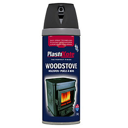Plasti-Kote Black Matt Stove Paint
