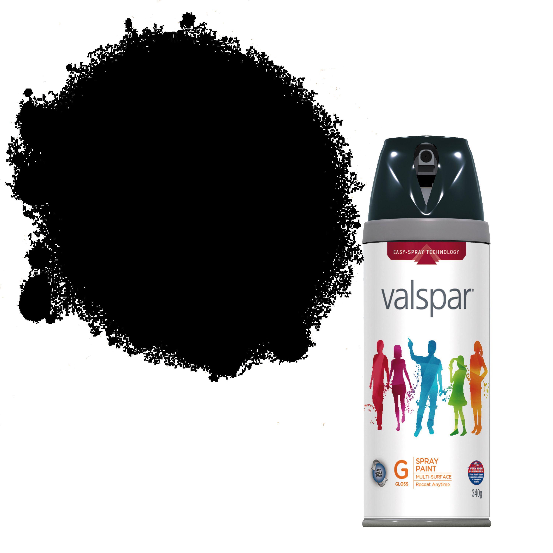 Valspar Interior & Exterior Black Gloss Spray Paint 400ml