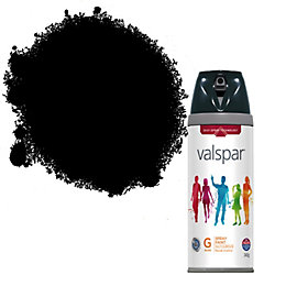 Valspar Interior & Exterior Black Gloss Spray Paint