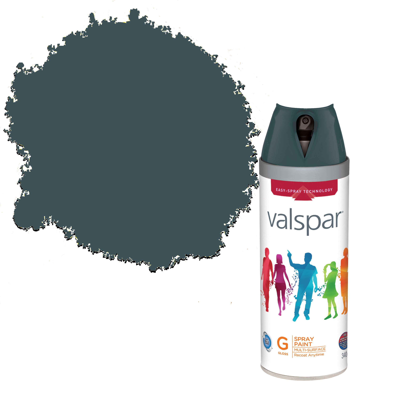 Valspar Interior & Exterior Midnight Serenade Grey Gloss Spray Paint 400ml