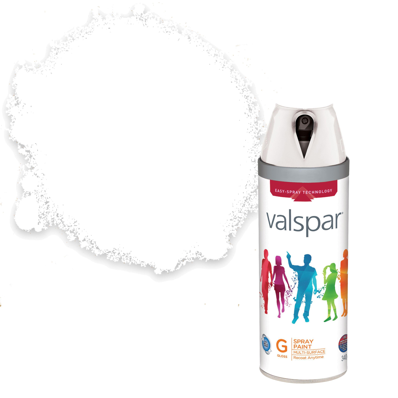 Valspar Interior & Exterior White Gloss Spray Paint 400ml