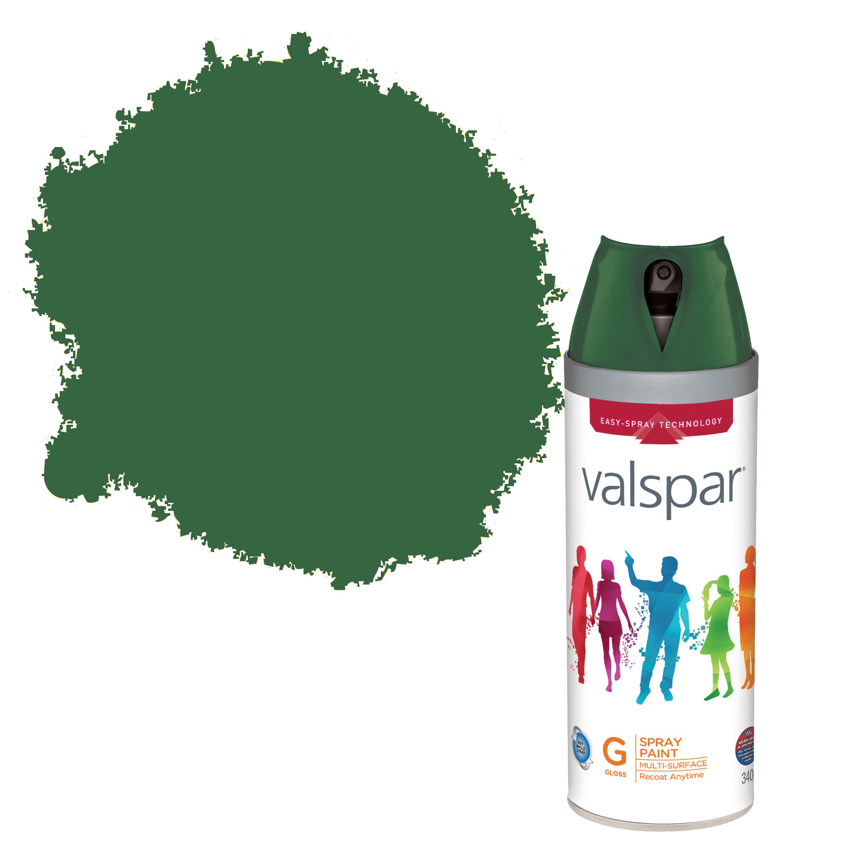 Valspar Interior & Exterior Montpal Green Gloss Spray Paint 400ml