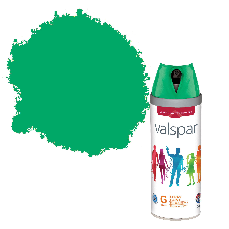 Valspar Interior & Exterior Pesto Green Gloss Spray Paint 400ml