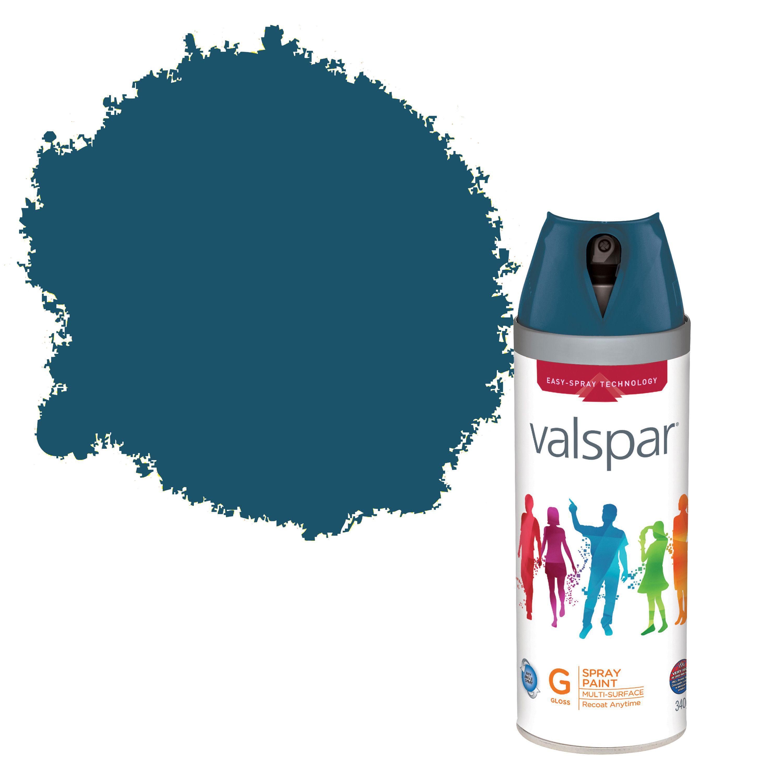 Valspar Interior & Exterior Deep Channel Blue Gloss Spray Paint 400ml