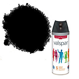 Valspar Black Satin Spray Paint 400ml