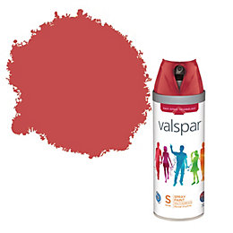 Valspar Bright Red Satin Spray Paint 400ml